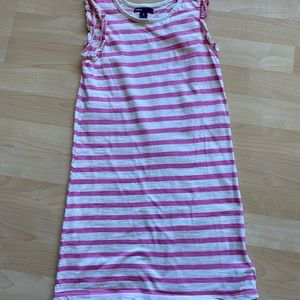 Gap Kids Pink Striped Cap Sleeve Dress 8